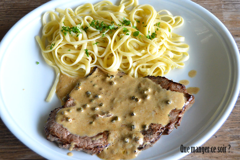 Steak sauce au poivre