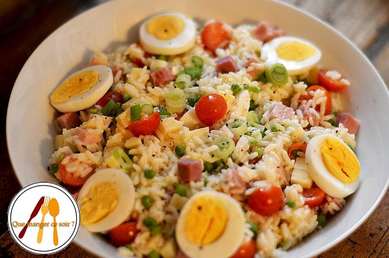 Idée Pour Manger Salade de riz au jambon | Que manger ce soir